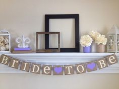 Bridal Shower Decorations - Bride To Be - Bridal Shower - Bachelorette Party - Bridal Signs - Wedding Signs, Lavender Bridal Shower Decor