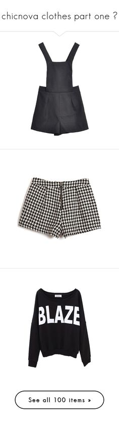 """""""chicnova clothes part one ❁"""" by feels-like-snow-in-september ❤ liked on Polyvore featuring shorts, overalls, dresses, chicnova, bottoms, pants, back zipper shorts, high-waisted shorts, back zip shorts and high rise shorts"""
