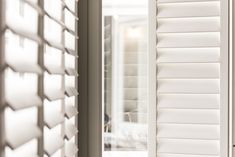 The UK's best & affordable shutters. Our handcrafted plantation shutters are made to measure, stylish & come in custom colours for your windows. Shutters With Curtains, Cafe Style Shutters, Kitchen Shutters, Wooden Window Shutters, Bedroom Shutters, Interior Shutters, Bathroom Window Dressing, Baby Room Neutral