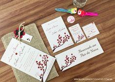 Identidade visual casamento ecológico - Galeria de Convites