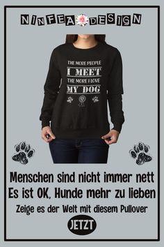Dog Hundesport Agility Funshirt Liebe Girlie Hoodie MICH GIBT ES NUR MIT HUND