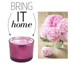 """Bring It Home: Pink Peony Candle"" by polyvore-editorial ❤ liked on Polyvore featuring interior, interiors, interior design, home, home decor, interior decorating, D.L. & Co. and bringithome"