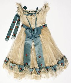 Ensemble Date: ca. 1864 Child's  Culture: American Medium: cotton, silk