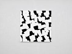 François Morellet, 3D – bandes décimées n°4, 2014, acrylic on canvas on wood; 150 x 150 cm / (59⅛ x 59⅛ in). Unique © the artist, image Courtesy of François Morellet and Blain|Southern, Photo: Atelier Morellet