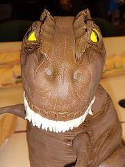 Bolo - Tiranossauro Rex =) de pasta americana - Cake made with fondant
