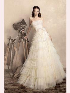 A Line Belt Tulle 2013 Wedding Dresses