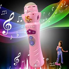 Tenworld Baby Educational Toy Gift Wireless LED Microphone Karaoke Singing Funny Music Mic