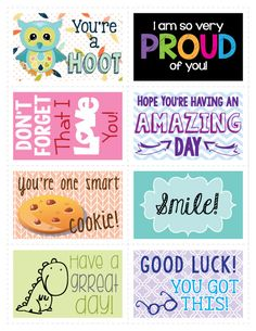 Make your child feel special with these lunch box notes, just in time for back to school!