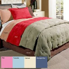 @Overstock - Sleep in comfort and style beneath this microsuede down comforter set. This three-piece set includes a comforter and two shams, all available in four lovely colors. The comforter is filled with a natural down blend, providing for all-season warmth. http://www.overstock.com/Bedding-Bath/Microsuede-3-piece-Down-Blend-Comforter-and-Sham-Set/886252/product.html?CID=214117 $65.69