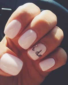 "Wedding nails ""I do"""