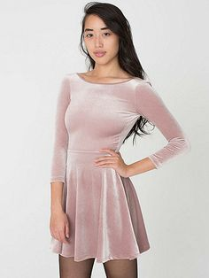 Stretch Velvet Skater Dress | American Apparel $58