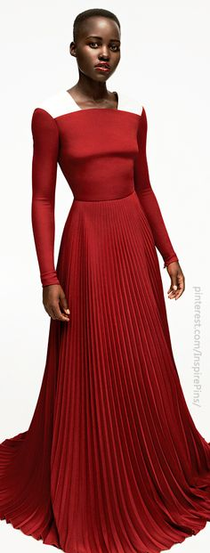 Dress: Valentino, Model: Lupita Nyong'o (Actress, Twelve Years a Slave), Photography: Gregory Harris, Styling: Vanessa Chow