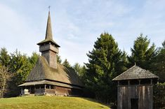 Wooden church from Oncești, Maramureș, Romania Vernacular Architecture, National Geographic, Romania, Cabin, House Styles, Places, Countries, Decor, Beast