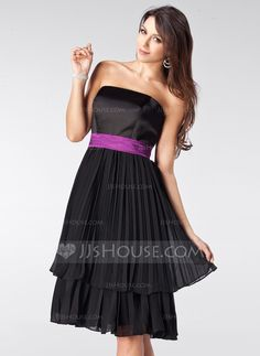 Bridesmaid Dresses - $96.99 - A-Line/Princess Strapless Knee-Length Chiffon Satin Bridesmaid Dress With Ruffle Sash (007000944) http://jjshouse.com/A-Line-Princess-Strapless-Knee-Length-Chiffon-Satin-Bridesmaid-Dress-With-Ruffle-Sash-007000944-g944?ves=vnlx6&ver=s92r1q