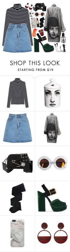"""Sin título #1350"" by meelstyle ❤ liked on Polyvore featuring Alygne, Fornasetti, Jean-Paul Gaultier, Versus, Karen Walker, Gerbe, Prada, Marni, Mimco and grunge"