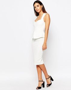 Vesper | Vesper Daisy Peplum Midi Dress at ASOS