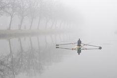 Serene- rowing is very zen like Row Row Your Boat, Row Row Row, The Row, Rowing Quotes, Rowing Shell, Rowing Gifts, Crew Club, Coxswain, Rowing Crew