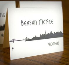 San Francisco Place Card Wedding Sign by ShannaMicheleDesigns