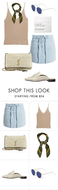 """""""Untitled #1922"""" by kellawear on Polyvore featuring Sans Souci, T By Alexander Wang, Yves Saint Laurent, Gucci, Dolce Vita, Illesteva and NARS Cosmetics"""