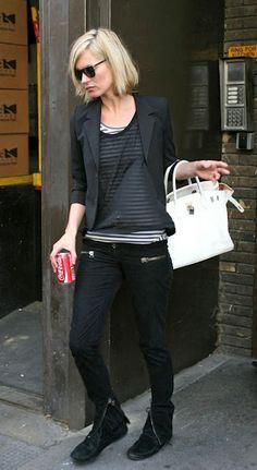 Kate Moss white Birkin is perfect for the spring season! #Birkin #KateMoss