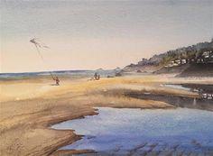 "Daily Paintworks - ""Summer beach"" - Original Fine Art for Sale - © Natasha Ramras"