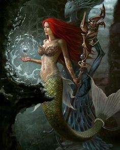 I love all fantasy and mythical stuff, but my favorite ones are mermaids.So this is a collection of mermaid images I've been picking all over the internet. Fantasy Mermaids, Real Mermaids, Mermaids And Mermen, Mermaid Artwork, Mermaid Drawings, Mermaid Paintings, Siren Mermaid, Mermaid Tale, Tattoo Mermaid