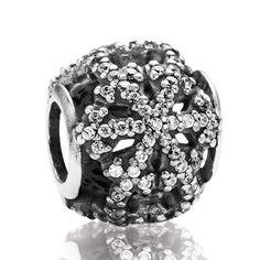 PANDORA 2013 Black Friday Pavé Snowflake Charm RETIRED #jewelrypandora