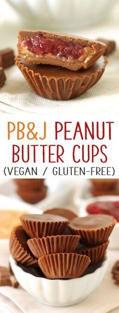 Peanut Butter and Jelly Peanut Butter Cups made healthier! {naturally gluten-free with a vegan + dairy-free option}