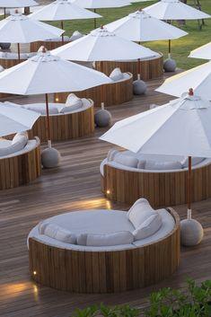 Gallery of SALA Samui Chaweng Beach Resort / onion - 49 Deco Restaurant, Outdoor Restaurant, Restaurant Design, Terrasse Design, Patio Design, House Design, Design Hotel, Beach Hotels, Beach Resorts
