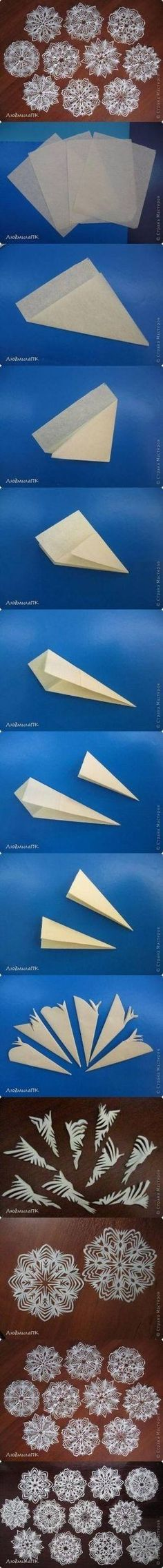How to make Paper Snowflake Method step by step DIY tutorial instructions, How to, how to do, diy instructions, crafts, do it yourself, diy by Mary Smith fSesz by therese