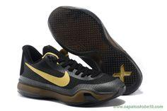 2d648c3311ede1 tenis barato de marca Preto Ouro Nike Kobe X Kobe Bryant Basketball Shoes  Kobe