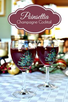 Poinsettia Champagne Cocktail Recipe via Musings of a Housewife