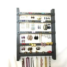 Earring Wall Display Organizer Necklace Storage Jewelry Rack
