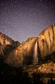 Stars over Yosemite National Park