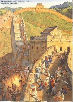 Ming army defend a fort in Great Wall