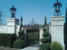 I love the elegant design of these entry gates.