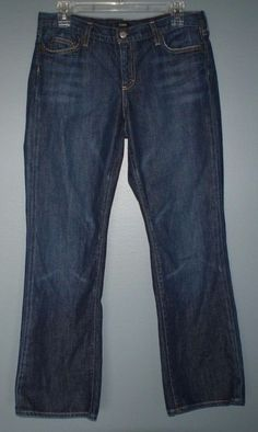 J Crew boot cut cotton jeans women's size 8 short #JCrew #BootCut