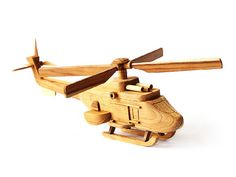 Wooden Toy Helicopter 04 in Handmade by MoreThanWoodShop on Etsy