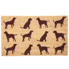 Coir Door Mat - Dogs Every home needs a door mat so check out our collection of coir door mats. Made from robust natural coir fibre with a durab Dog Silhouette, Silhouette Design, Union Jack, Natural Door Mats, Dog Lover Gifts, Dog Lovers, Porche, Coir Doormat, British Bulldog