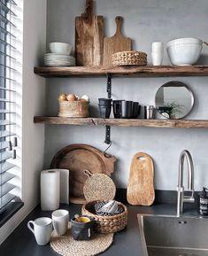 Best ideas for neutral kitchen design ideas in 2019 Boho Kitchen, Kitchen Styling, Rustic Kitchen, Country Kitchen, New Kitchen, Kitchen Dining, Kitchen Decor, Earthy Kitchen, Decorating Kitchen