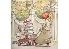Illustration by David Small. (cover of The Library by Sarah Stewart) Illustration by David Small. (cover of The Library by Sarah Stewart) I Love Books, Great Books, Books To Read, My Books, Reading Art, I Love Reading, Reading Books, World Of Books, Lectures