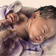 #baby #life #family #cute #chubby #newborn #portraitdrawing #babyart