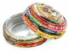 Recycled Broken Bangles Incredible Crafts