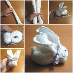 DIY Adorable Towel Bunny  LIKE Us on Facebook ==> https://www.facebook.com/icreativeideas