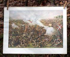 Antique Civil War Prints   Battle of Five Forks   Kurz and Allison   Bourbon & Boots