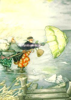 Comics - Inge Look, Grannies on Skates with Umbrella | Flickr - Photo Sharing!