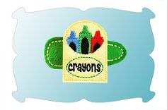 Box Of Crayons Snap Clip Mini In The Hoop
