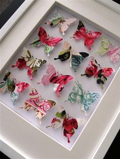 More butterflies - this time fabric. Can custom make to match decor  - idea for girl's room?