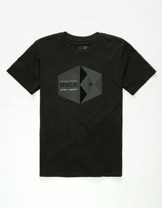 RVCA Geo Hex Reflective Boys T-Shirt 253682100   Graphic Tees