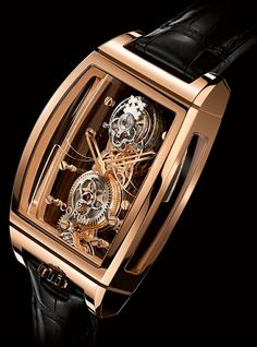 Часы скелетон Corum Golden Bridge Tourbillon Panoramique – Эффект парящего турбийона   LuxuriousWatches.ru
